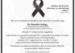 Gyászhír - Dr. Baradits György