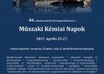 Műszaki Kémiai Napok 2017. április 25-27.