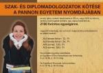 Szak- és diplomadolgozatok kötése a Pannon Egyetem Nyomdájában