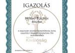 Rangos elismerés - Nemzeti Kiválóság Díjat nyert el Hodai Zoltán kollégánk