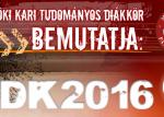 2016 évi Intézményi TDK Konferencia